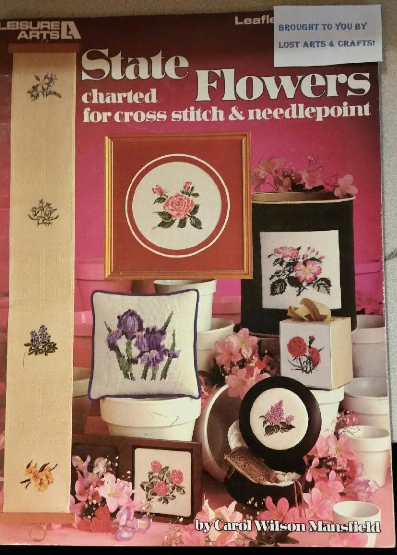 State Flowers Charted for cross stitch and needlepoint